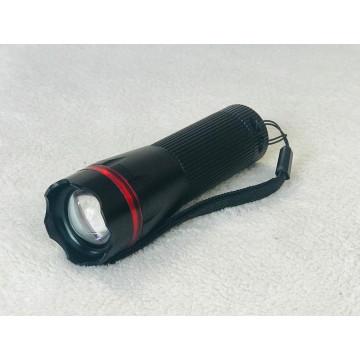 Ліхтарик чорний червона смужка К-02